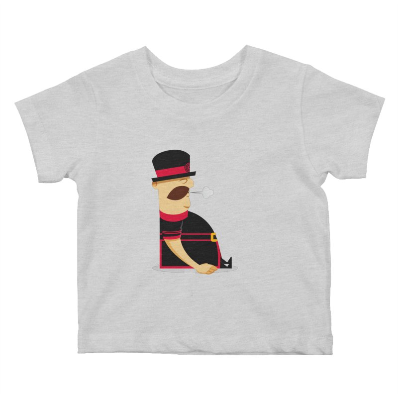 Tired Yeoman Kids Baby T-Shirt by Yeoman
