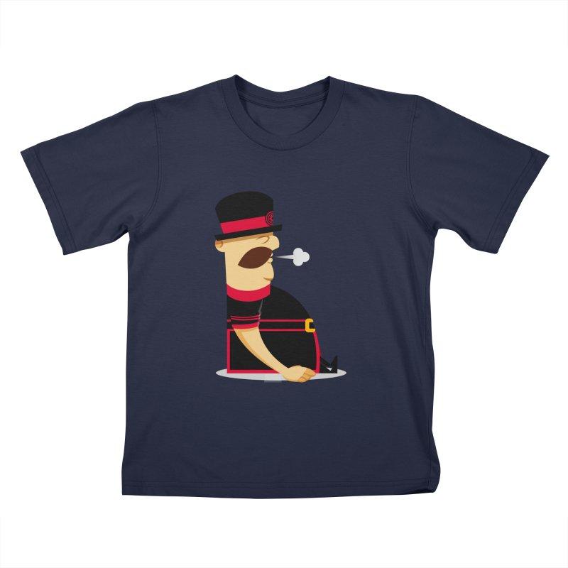 Tired Yeoman Kids T-Shirt by Yeoman