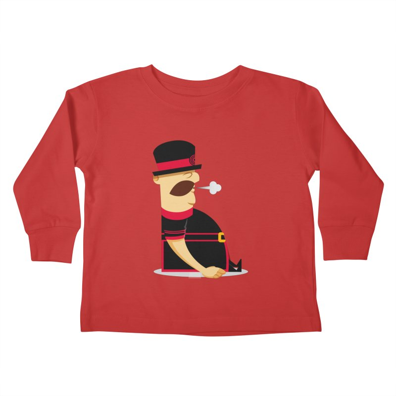 Tired Yeoman Kids Toddler Longsleeve T-Shirt by Yeoman
