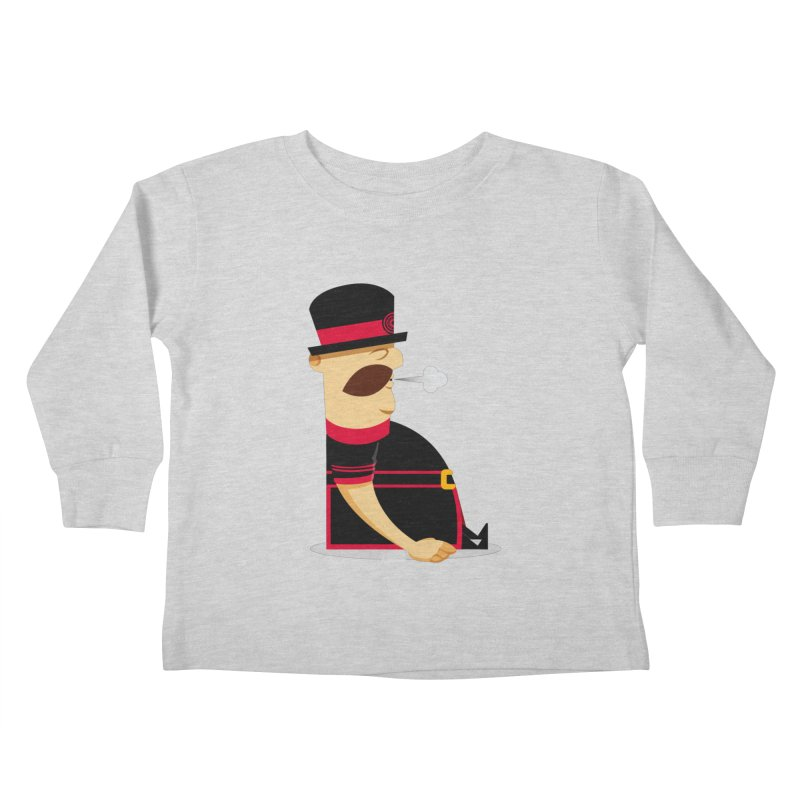 Tired Yeoman Kids Toddler Longsleeve T-Shirt by Yeoman