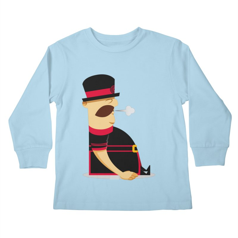 Tired Yeoman Kids Longsleeve T-Shirt by Yeoman