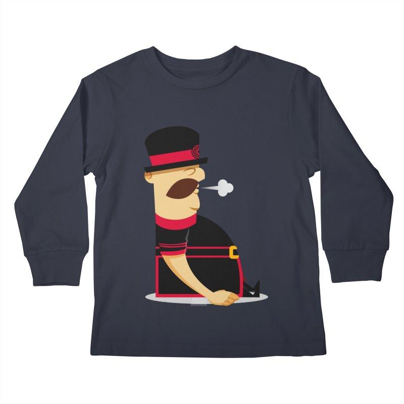 Tired Yeoman Kids Longsleeve T-Shirt by Yeoman