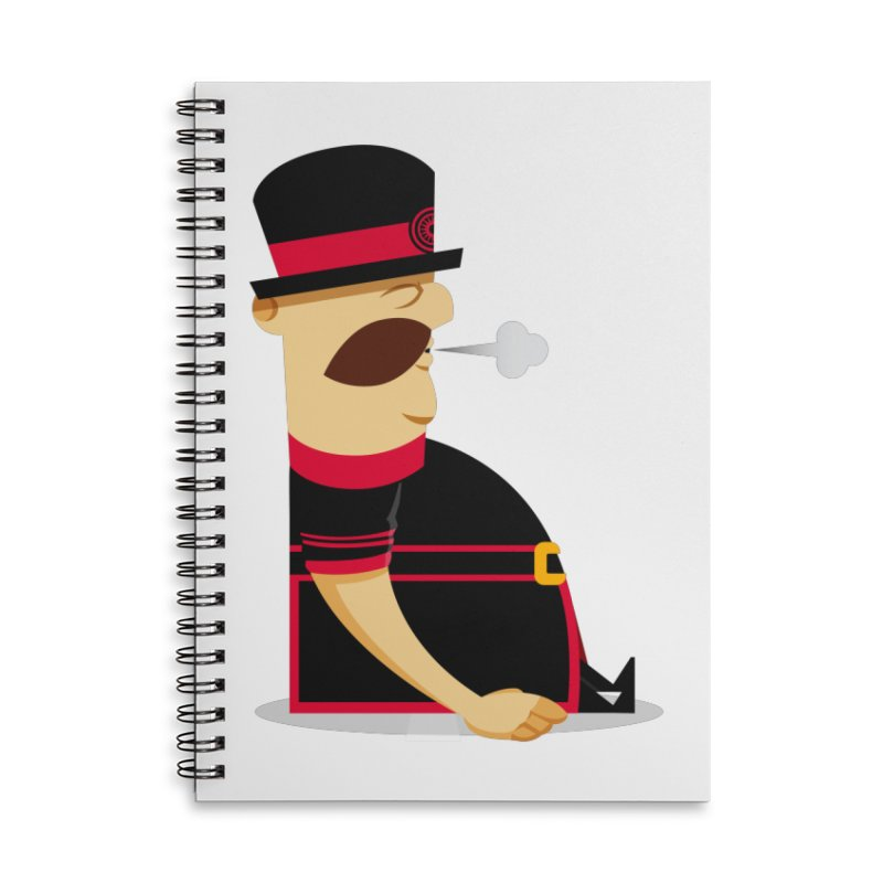 Tired Yeoman Accessories Lined Spiral Notebook by Yeoman