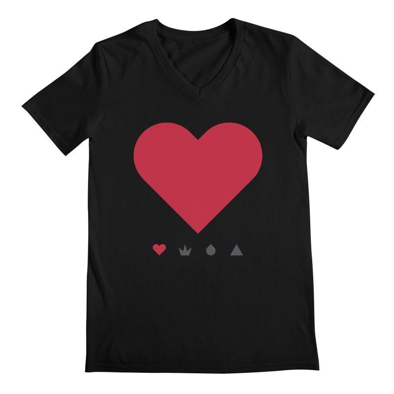 Love Men's V-Neck by YesWeDo Clothing Artist Shop
