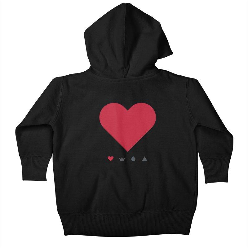 Love Kids Baby Zip-Up Hoody by YesWeDo Clothing Artist Shop