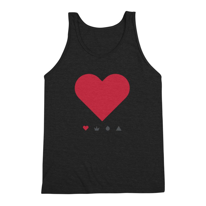 Love Men's Triblend Tank by YesWeDo Clothing Artist Shop
