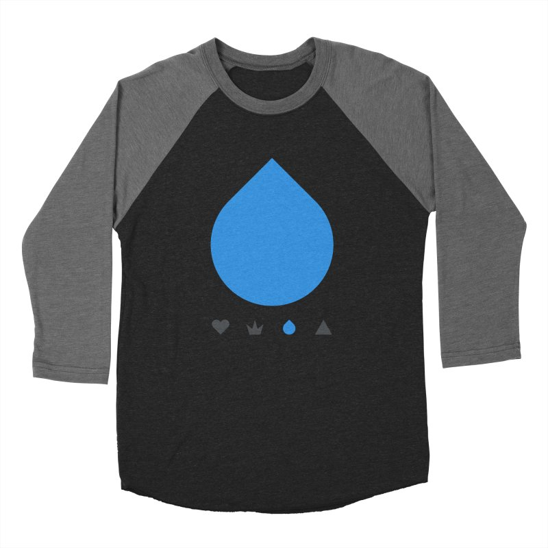 Teardrop Men's Baseball Triblend T-Shirt by YesWeDo Clothing Artist Shop
