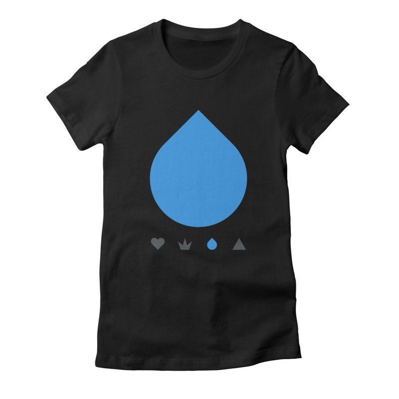 Teardrop Women's Fitted T-Shirt by YesWeDo Clothing Artist Shop