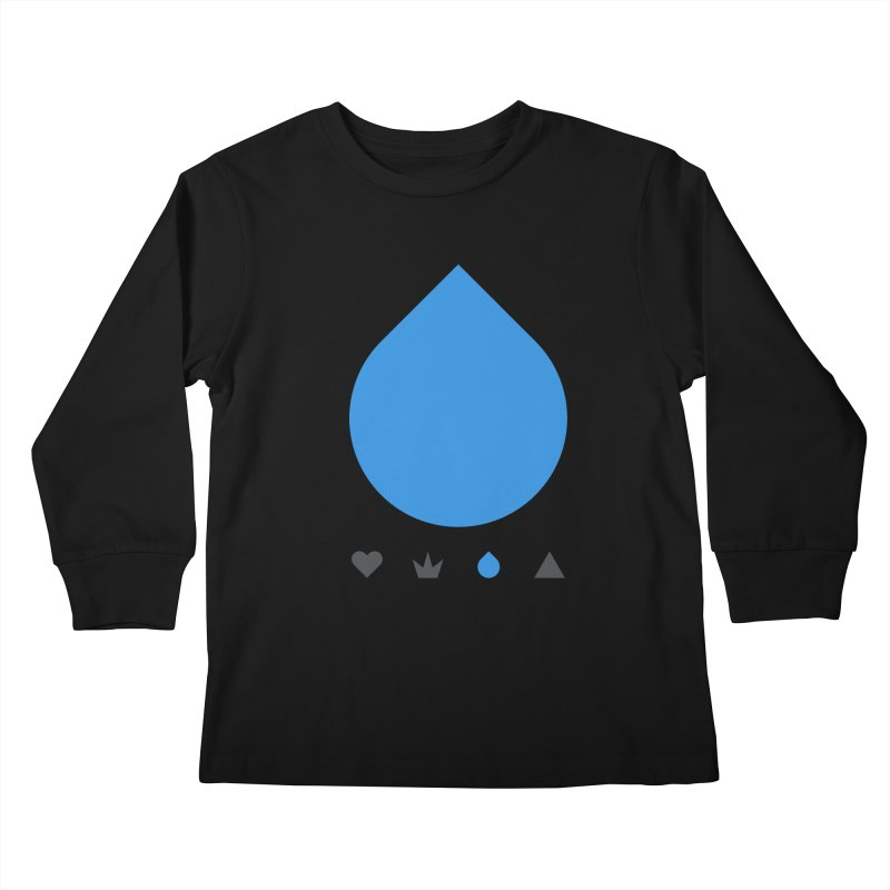 Teardrop Kids Longsleeve T-Shirt by YesWeDo Clothing Artist Shop