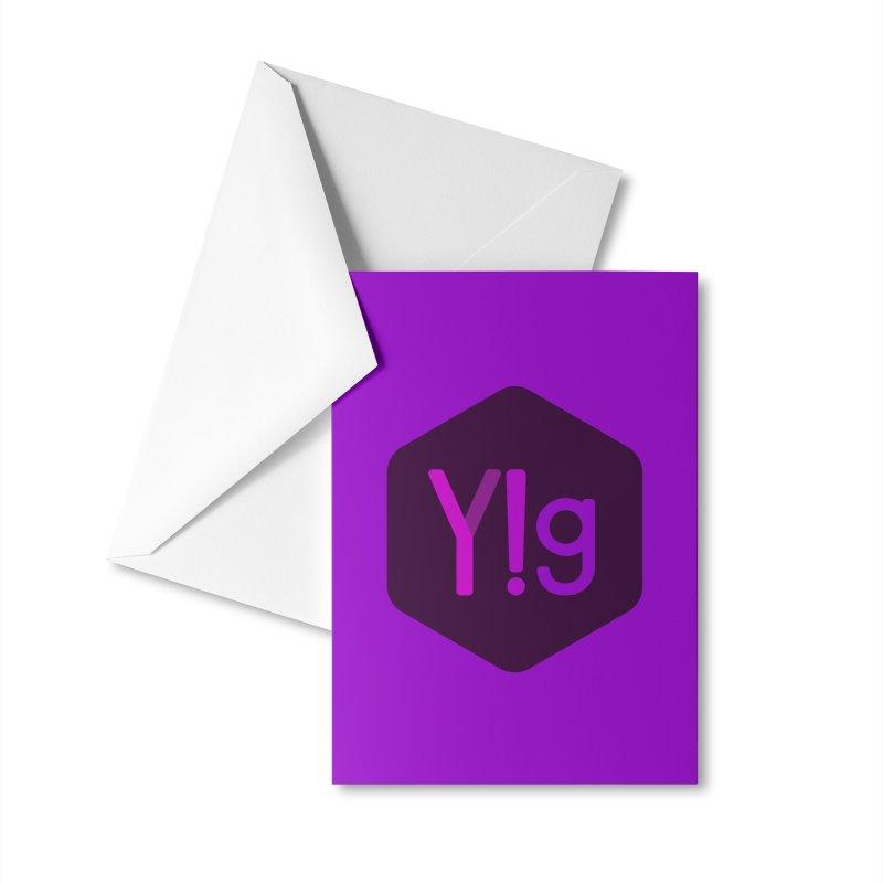 Y!g Logo Accessories Greeting Card by Y!gallery Merch Shop