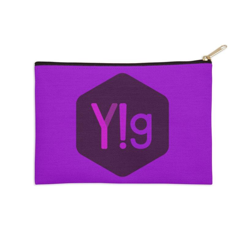 Y!g Logo Accessories Zip Pouch by Y!gallery Merch Shop
