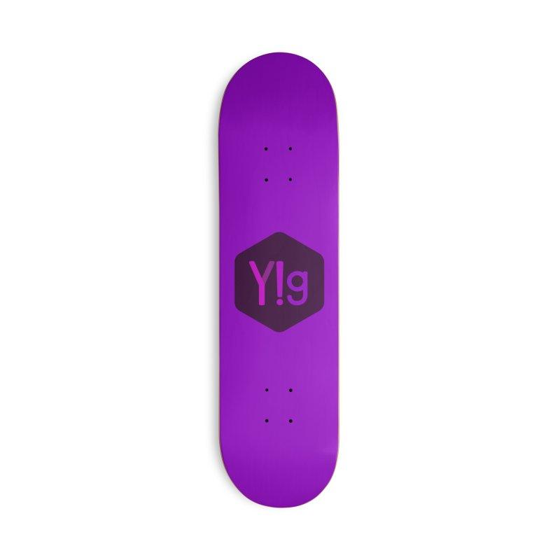Y!g Logo Accessories Skateboard by Y!gallery Merch Shop