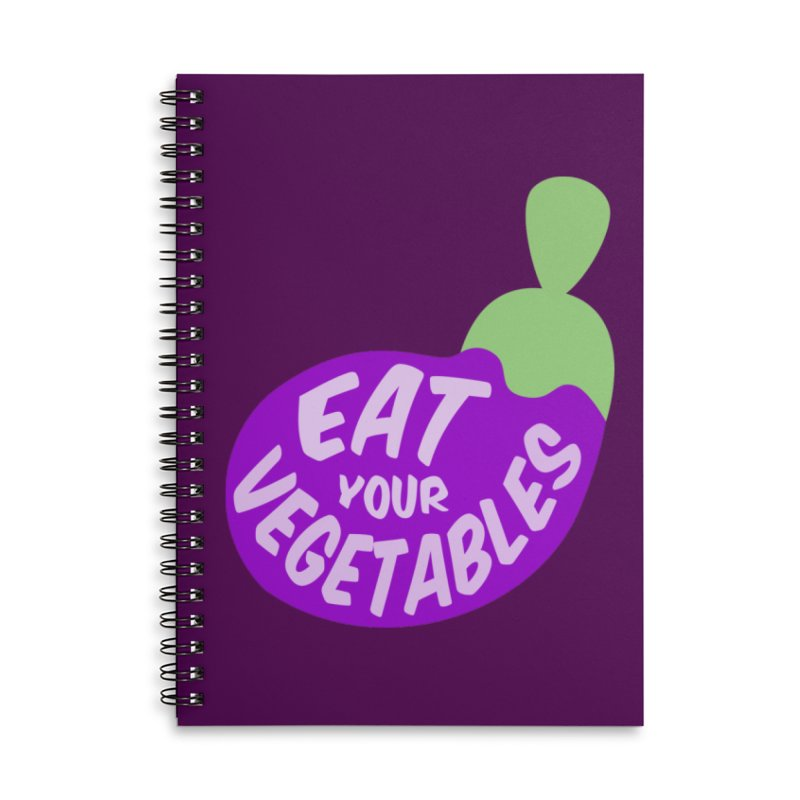 Eat your vegetables Accessories Notebook by Y!gallery Merch Shop