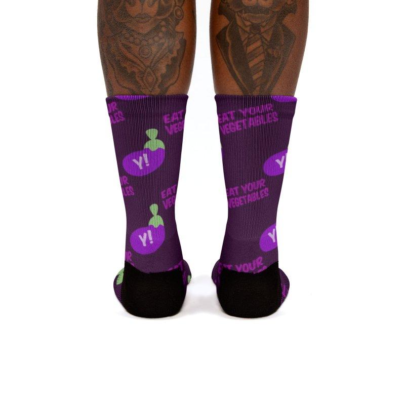 Eat your veg' repeat! Women's Socks by Y!gallery Merch Shop