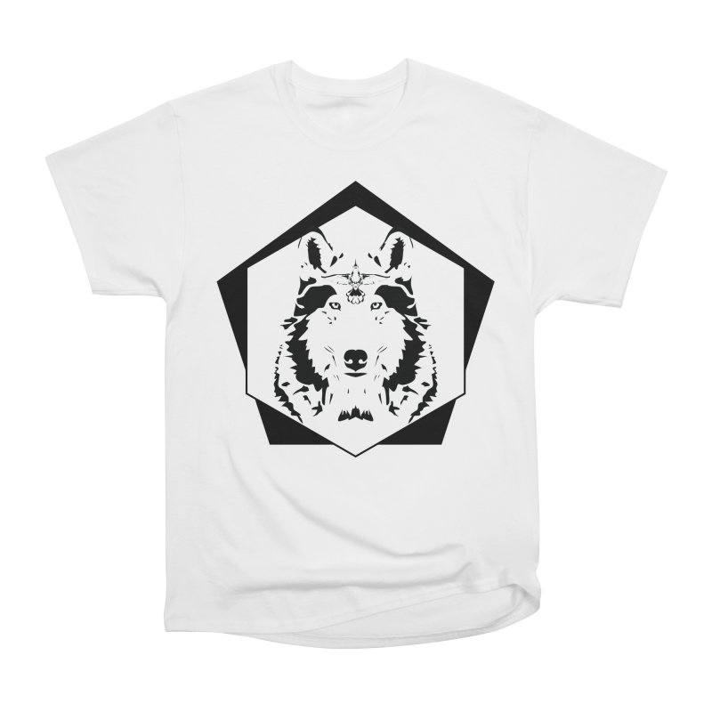 Wolf and Hummingbird Men's T-Shirt by Ygg Studios Shop