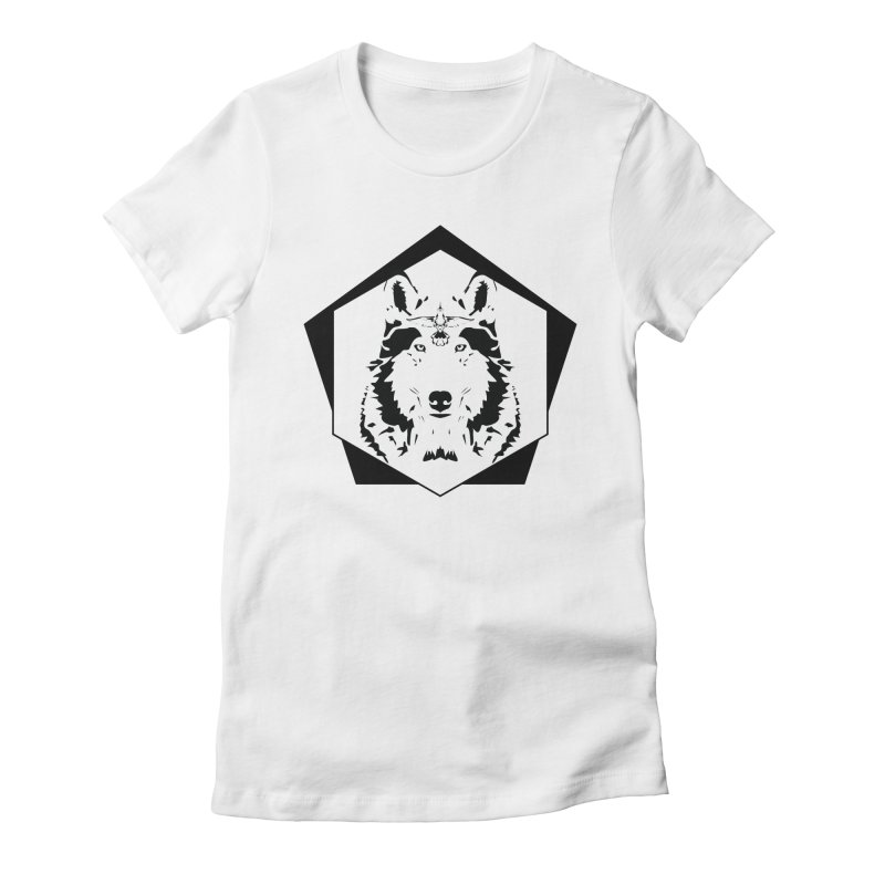 Wolf and Hummingbird Women's Fitted T-Shirt by Ygg Studios Shop