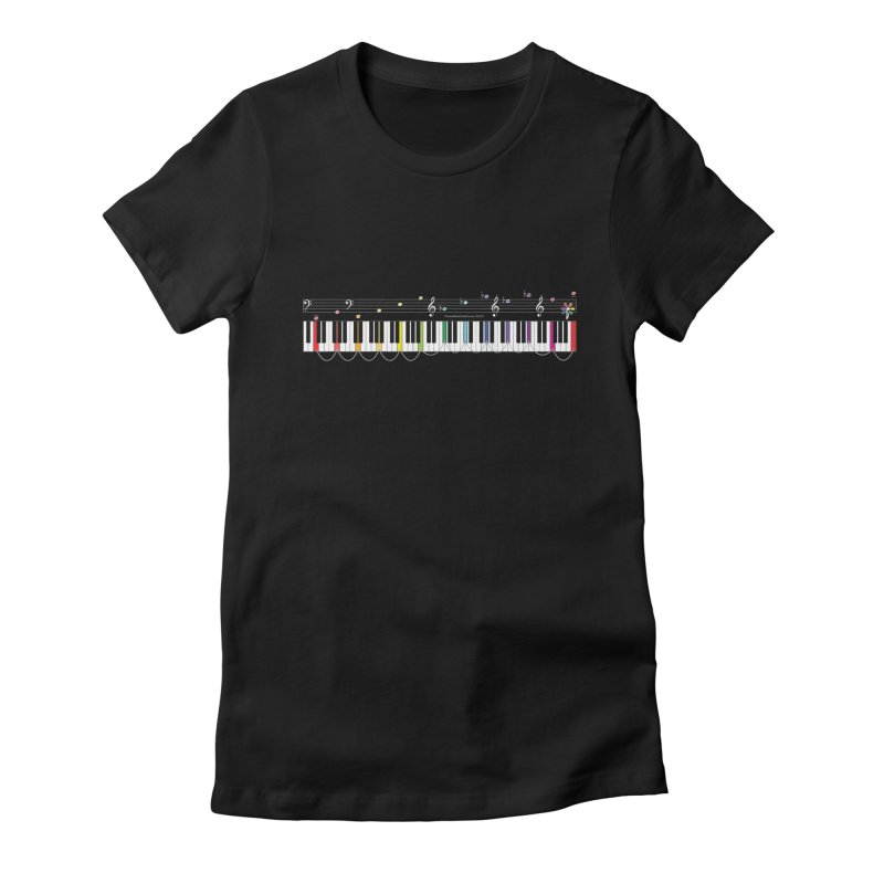 Keyboard of Fifths Women's Fitted T-Shirt by Ygg Studios Shop