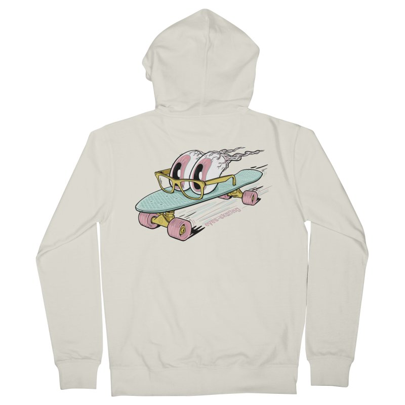 eyes-skating Men's French Terry Zip-Up Hoody by YiannZ's Artist Shop