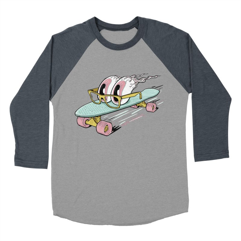 eyes-skating Women's Baseball Triblend T-Shirt by YiannZ's Artist Shop