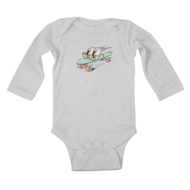 eyes-skating Kids Baby Longsleeve Bodysuit by YiannZ's Artist Shop