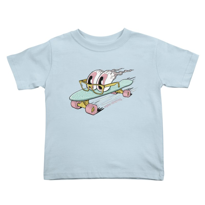 eyes-skating Kids Toddler T-Shirt by YiannZ's Artist Shop