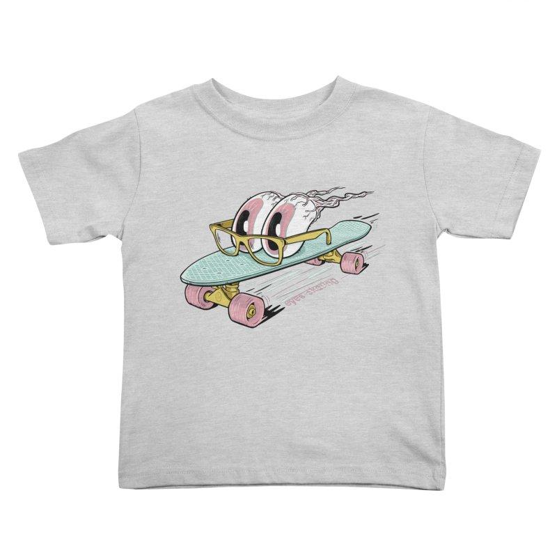 eyes-skating Kids Toddler T-Shirt by YiannZ's Artist Shop