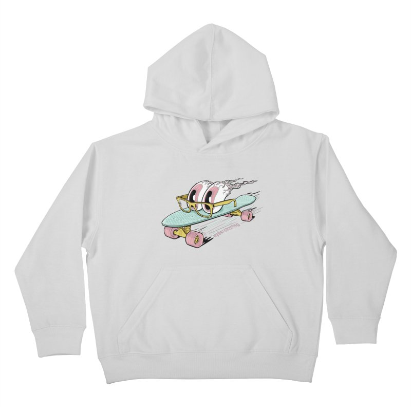 eyes-skating Kids Pullover Hoody by YiannZ's Artist Shop