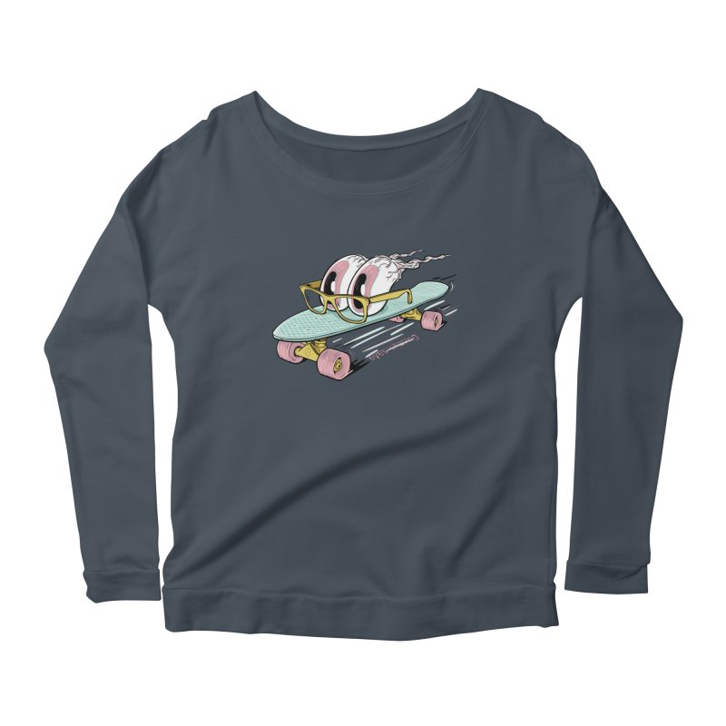 eyes-skating Women's Scoop Neck Longsleeve T-Shirt by YiannZ's Artist Shop
