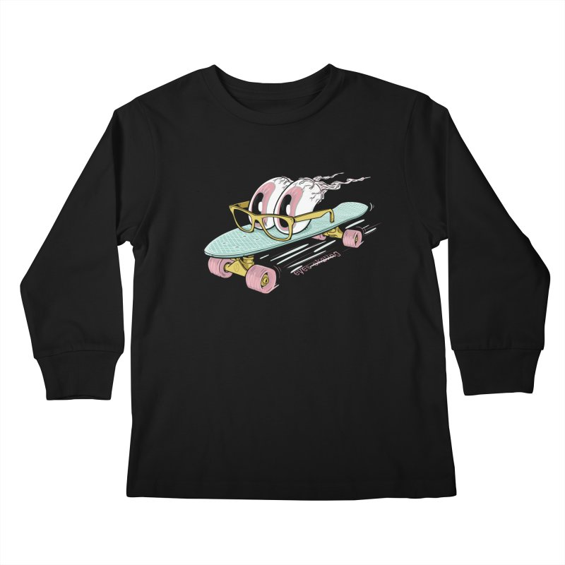 eyes-skating Kids Longsleeve T-Shirt by YiannZ's Artist Shop
