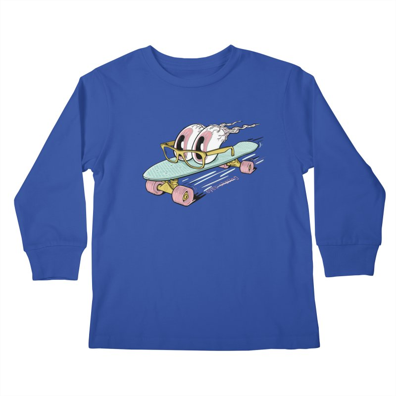 eyes-skating Kids Longsleeve T-Shirt by YiannZ's Artist Shop