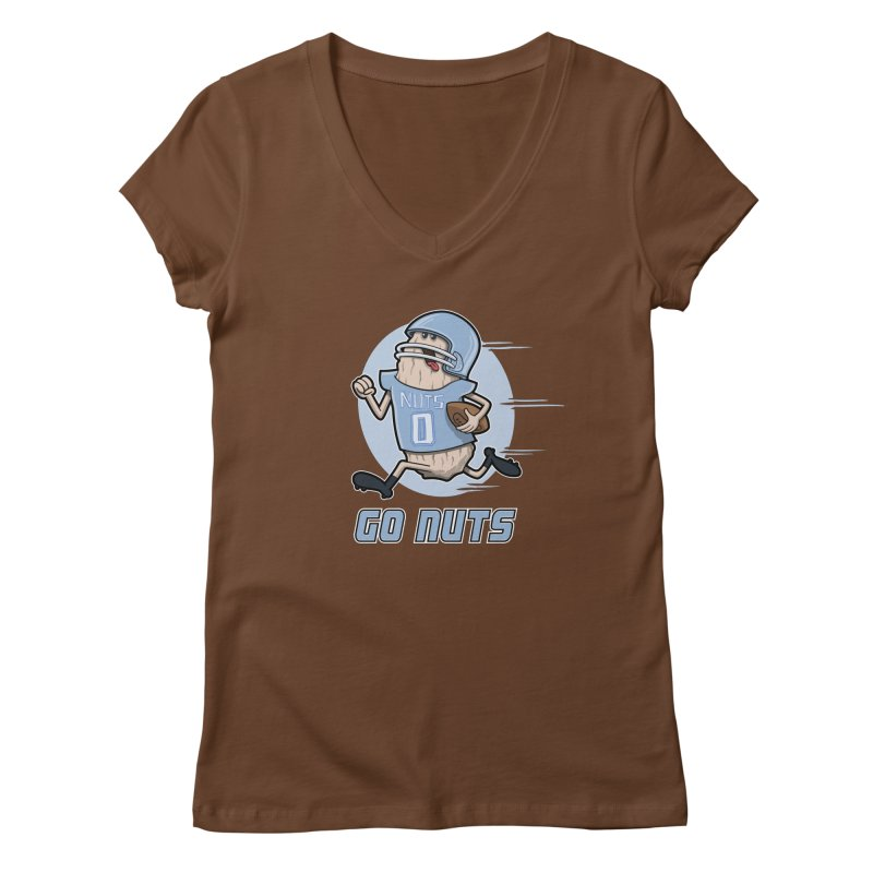 GO NUTS! Women's V-Neck by YiannZ's Artist Shop