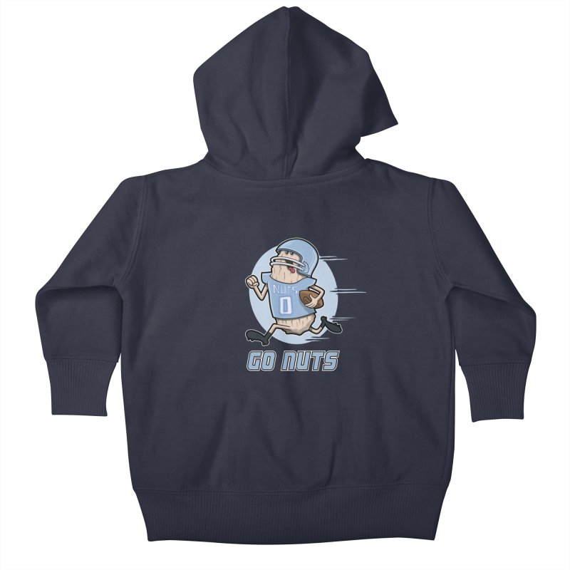 GO NUTS! Kids Baby Zip-Up Hoody by YiannZ's Artist Shop