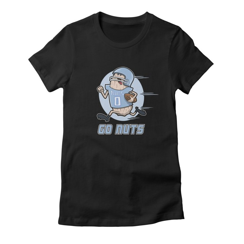 GO NUTS! Women's Fitted T-Shirt by YiannZ's Artist Shop