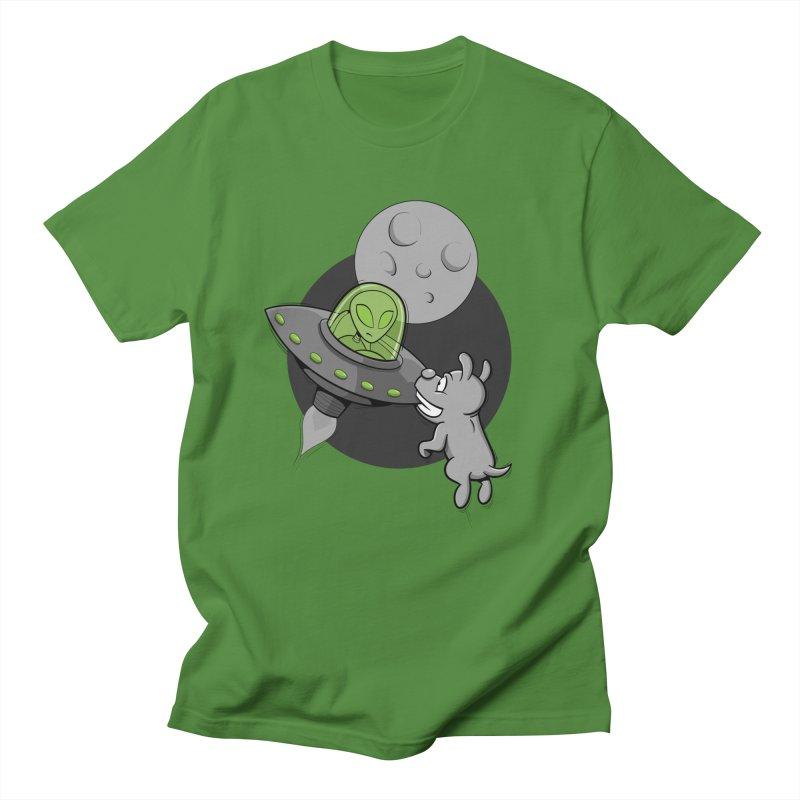 UFF - Unidentified Flying Frisbie Men's T-Shirt by YiannZ's Artist Shop
