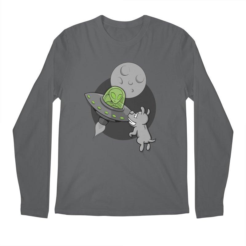 UFF - Unidentified Flying Frisbie Men's Regular Longsleeve T-Shirt by YiannZ's Artist Shop
