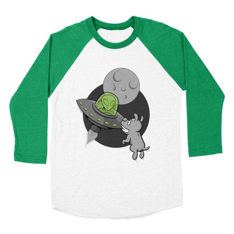 UFF - Unidentified Flying Frisbie Women's Baseball Triblend Longsleeve T-Shirt by YiannZ's Artist Shop