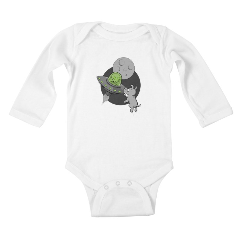 UFF - Unidentified Flying Frisbie Kids Baby Longsleeve Bodysuit by YiannZ's Artist Shop