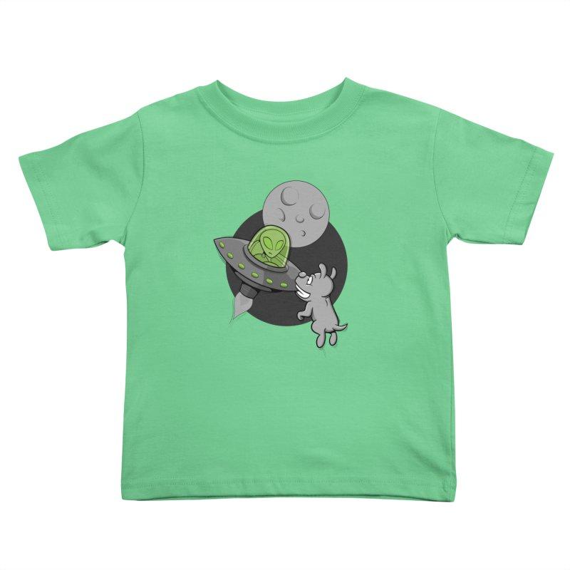 UFF - Unidentified Flying Frisbie Kids Toddler T-Shirt by YiannZ's Artist Shop