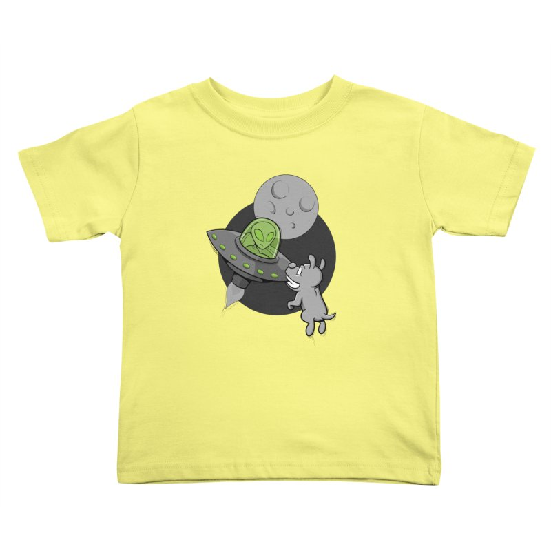 UFF - Unidentified Flying Frisbie Kids Toddler T-Shirt by YiannZ's Artist Shop