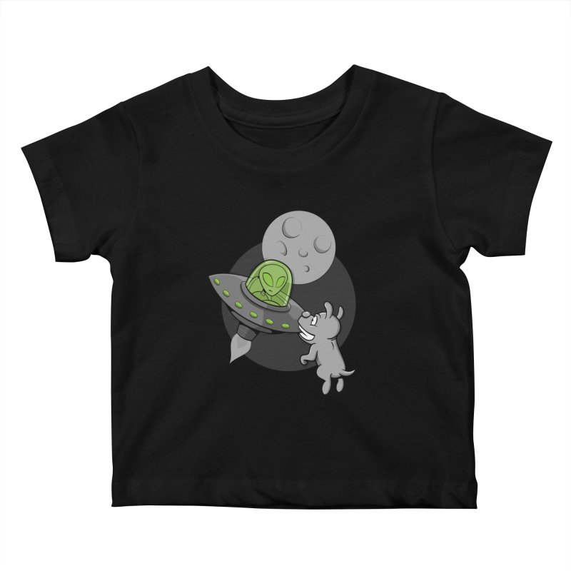 UFF - Unidentified Flying Frisbie Kids Baby T-Shirt by YiannZ's Artist Shop