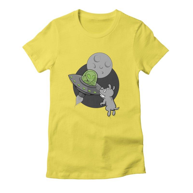 UFF - Unidentified Flying Frisbie Women's T-Shirt by YiannZ's Artist Shop