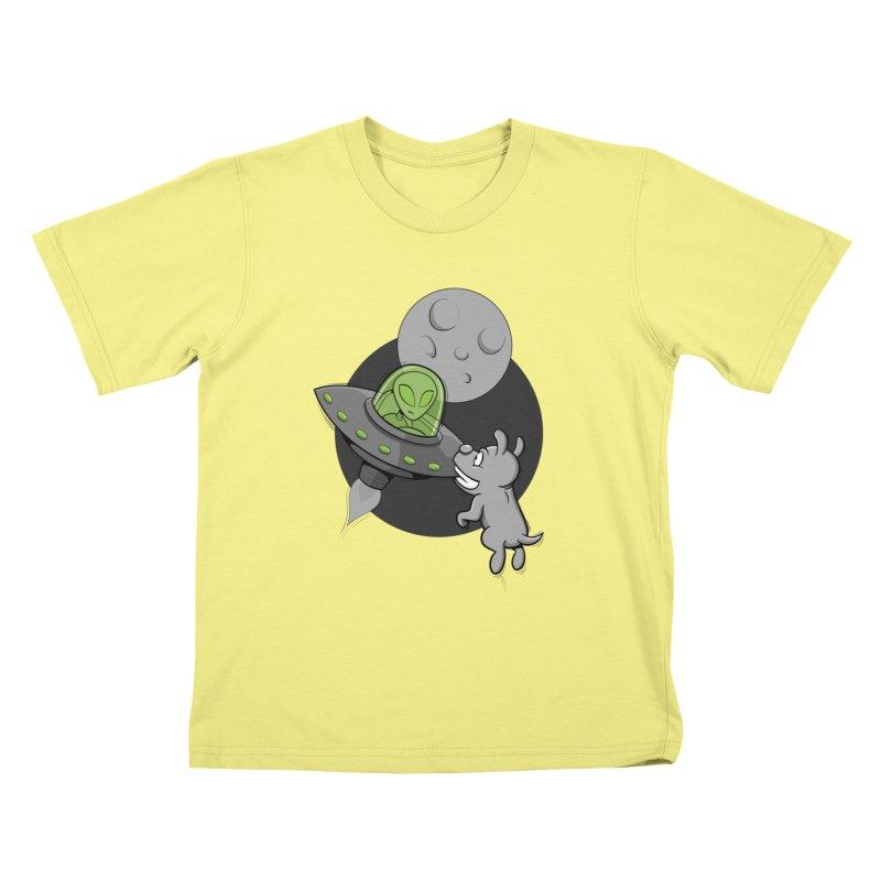 UFF - Unidentified Flying Frisbie Kids T-shirt by YiannZ's Artist Shop