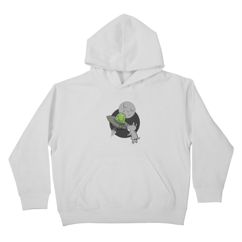UFF - Unidentified Flying Frisbie Kids Pullover Hoody by YiannZ's Artist Shop