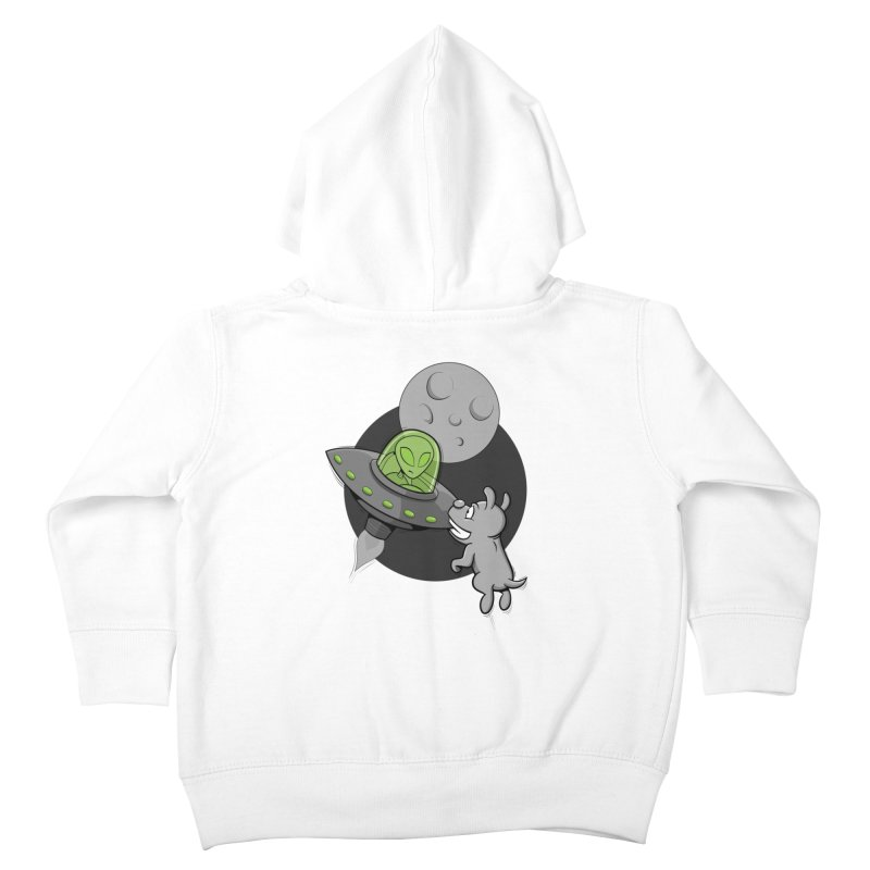UFF - Unidentified Flying Frisbie Kids Toddler Zip-Up Hoody by YiannZ's Artist Shop