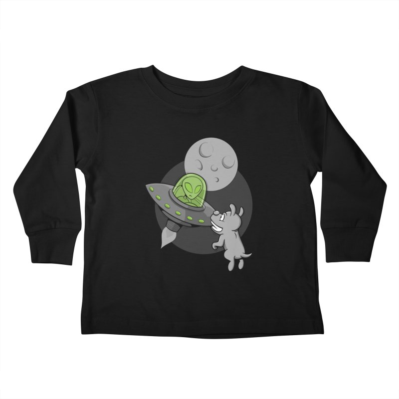 UFF - Unidentified Flying Frisbie Kids Toddler Longsleeve T-Shirt by YiannZ's Artist Shop