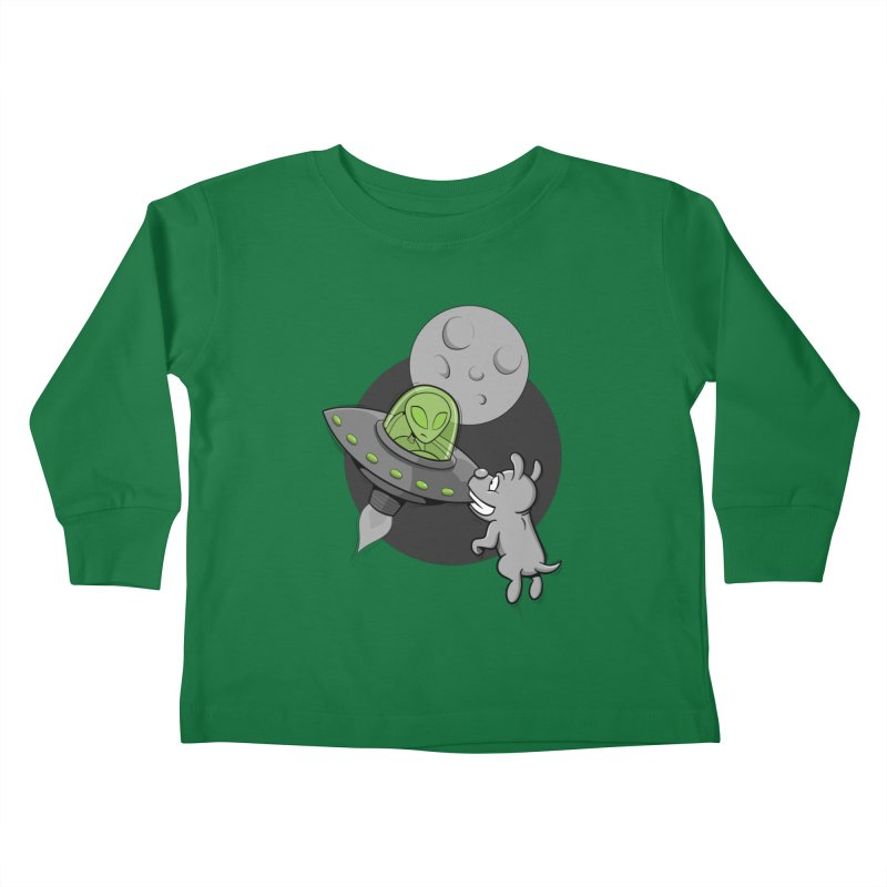 UFF - Unidentified Flying Frisbie Kids Toddler Longsleeve T-Shirt by YiannZ's Artist Shop
