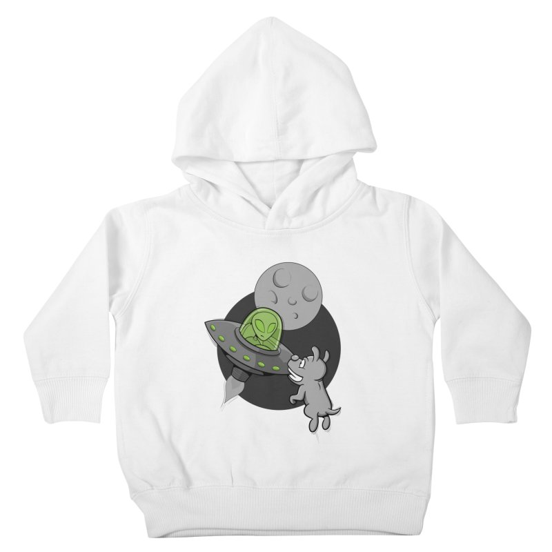 UFF - Unidentified Flying Frisbie Kids Toddler Pullover Hoody by YiannZ's Artist Shop