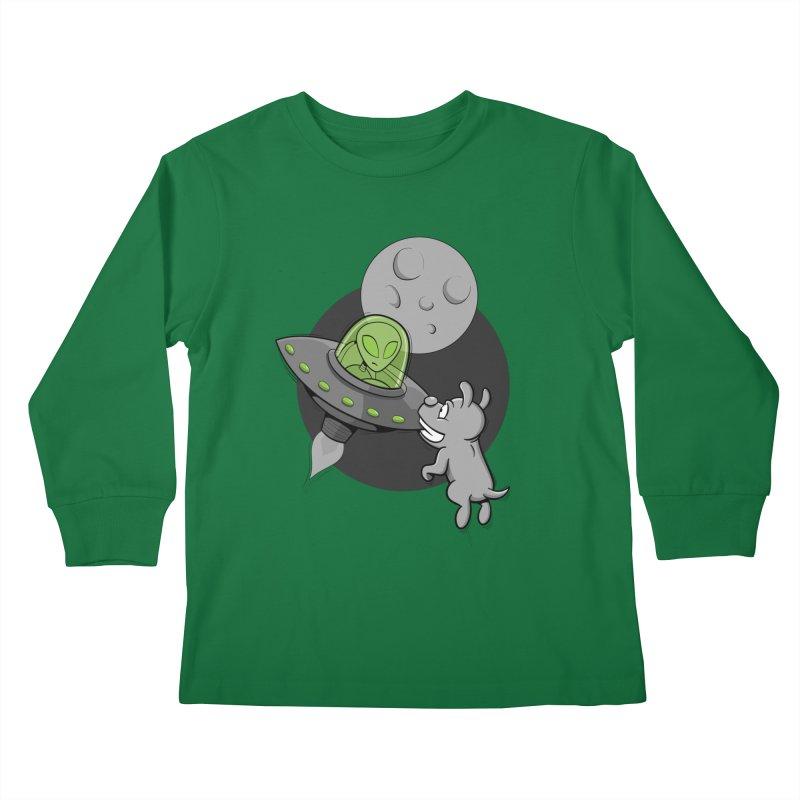 UFF - Unidentified Flying Frisbie Kids Longsleeve T-Shirt by YiannZ's Artist Shop