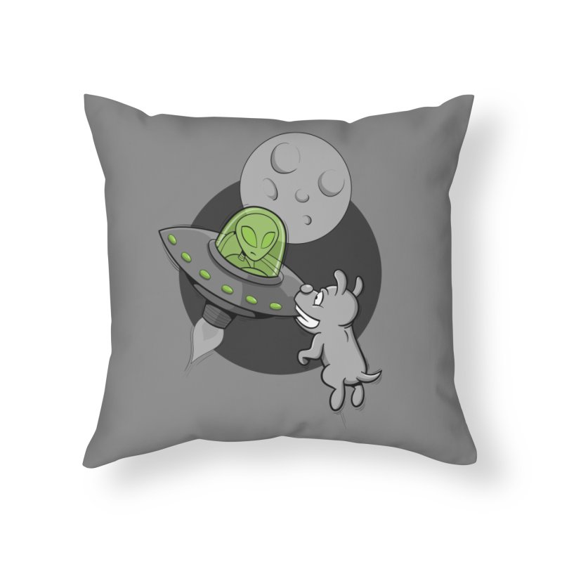 UFF - Unidentified Flying Frisbie Home Throw Pillow by YiannZ's Artist Shop