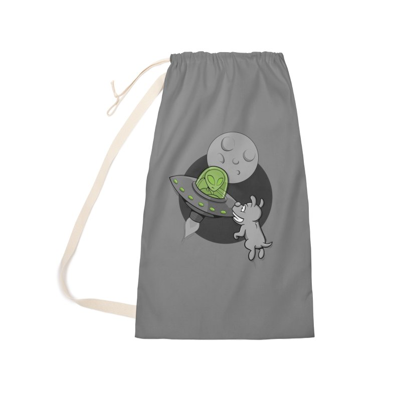 UFF - Unidentified Flying Frisbie Accessories Laundry Bag Bag by YiannZ's Artist Shop